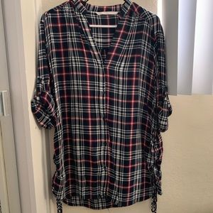 Zara Flannel Top